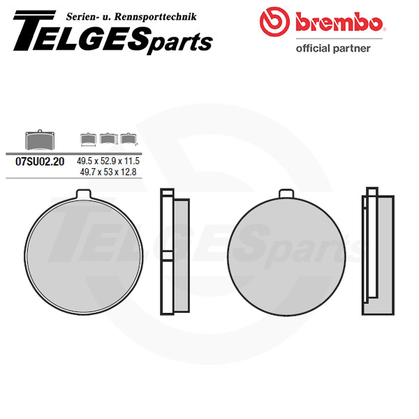 07SU0220 Brembo Brake Pad - CC Carbon Ceramic Road
