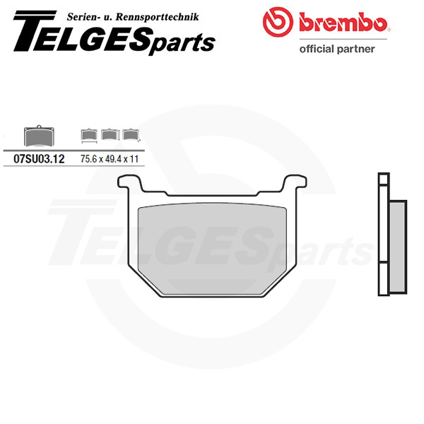 07SU0312 Brembo Brake Pad - CC Carbon Ceramic Road
