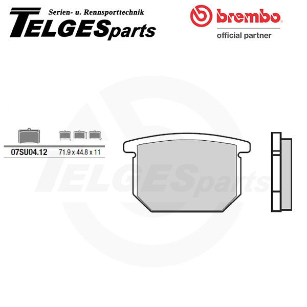 07SU0412 Brembo Brake Pad - CC Carbon Ceramic Road
