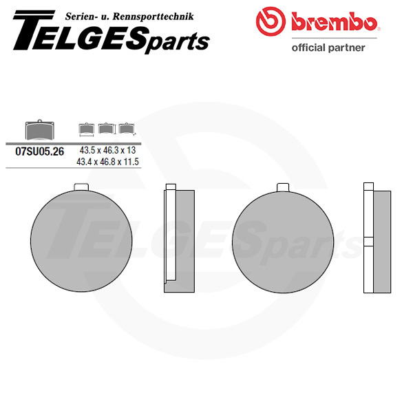 07SU0526 Brembo Brake Pad - CC Carbon Ceramic Road