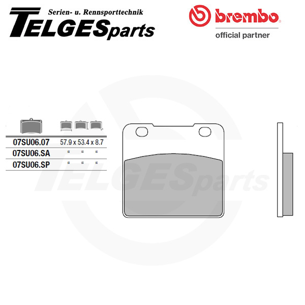 07SU0607 Brembo Brake Pad - CC Carbon Ceramic Road