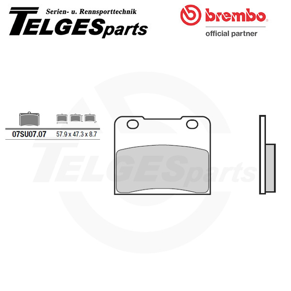 07SU0707 Brembo Brake Pad - CC Carbon Ceramic Road