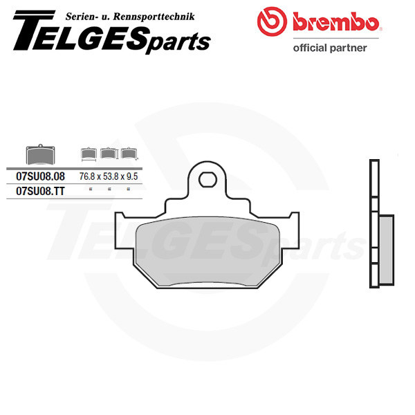 07SU0808 Brembo Brake Pad - CC Carbon Ceramic Road
