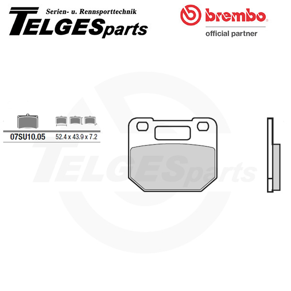 07SU1005 Brembo Brake Pad - CC Carbon Ceramic Road