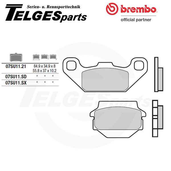 07SU1132 Brembo Brake Pad - CC Carbon Ceramic Road