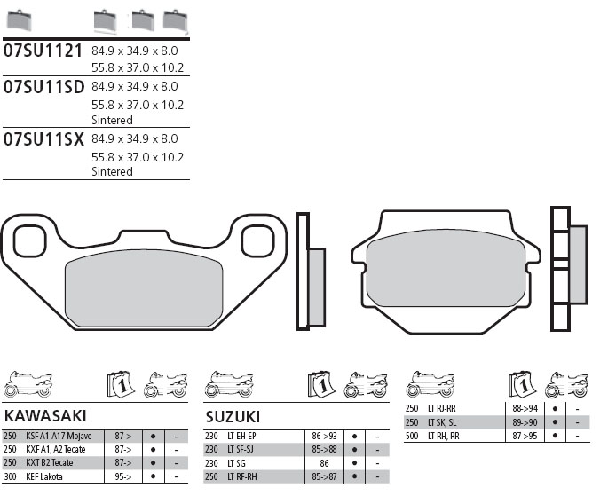 07SU11SD Brembo Brake Pad - Sintered, Off-Road, front