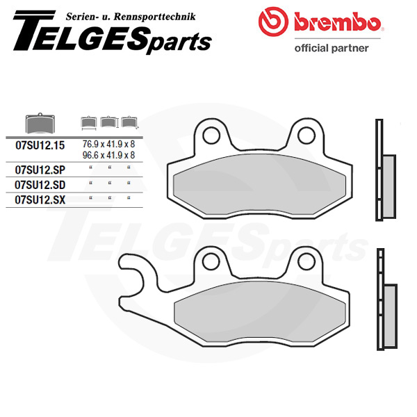 07SU1215 Brembo Brake Pad - CC Carbon Ceramic Road
