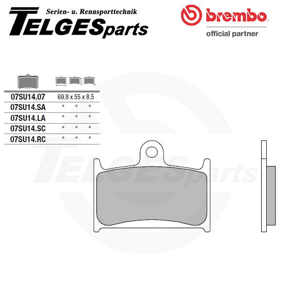07SU1407 Brembo Brake Pad - CC Carbon Ceramic Road