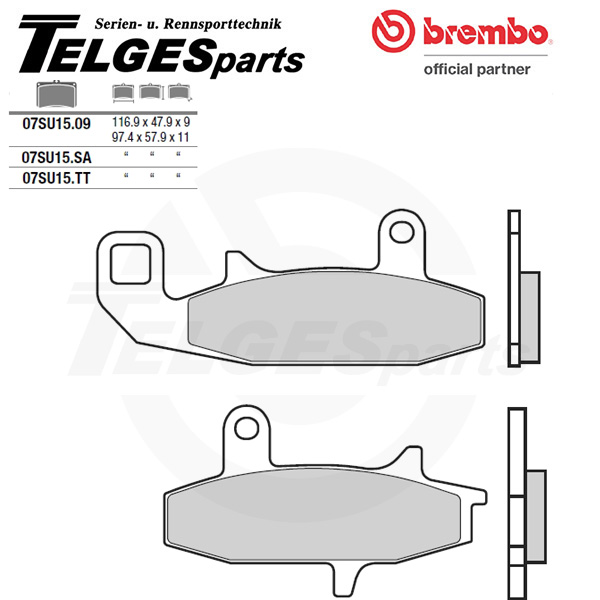 07SU1509 Brembo Brake Pad - CC Carbon Ceramic Road