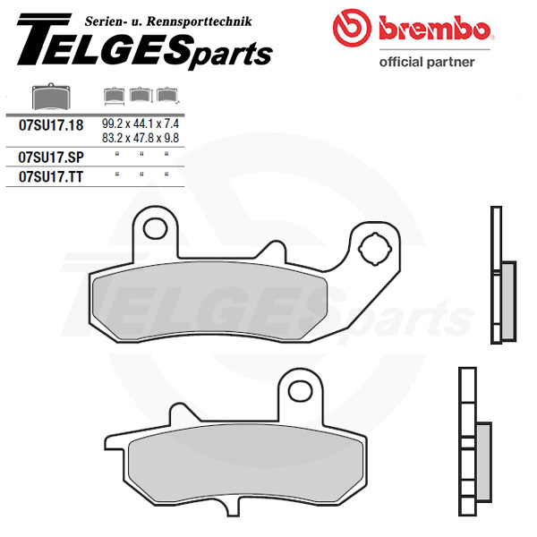 07SU1718 Brembo Brake Pad - CC Carbon Ceramic Road