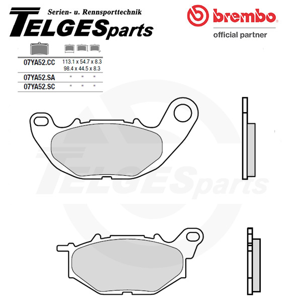 07YA52SC Brembo Brake Pad - SC Sinter Race