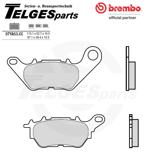 07YA53CC Brembo Brake Pad - CC Carbon Ceramic Road