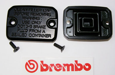 Brembo Cap and Membrane for Master Cylinder PS15/16, angular