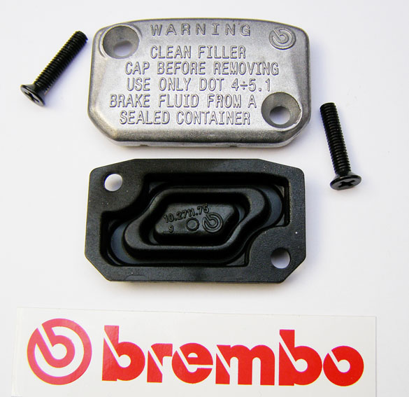 Brembo Cap and Membrane for Master Cylinder PS9-11, angular