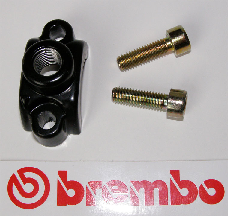 Brembo Clamp for mirror, black, for Brembo Master Cylinders