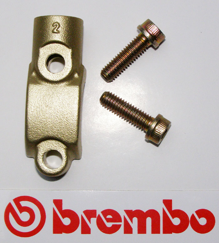 Brembo Clamp for mirror, gold,  for Brembo Master Cylinders