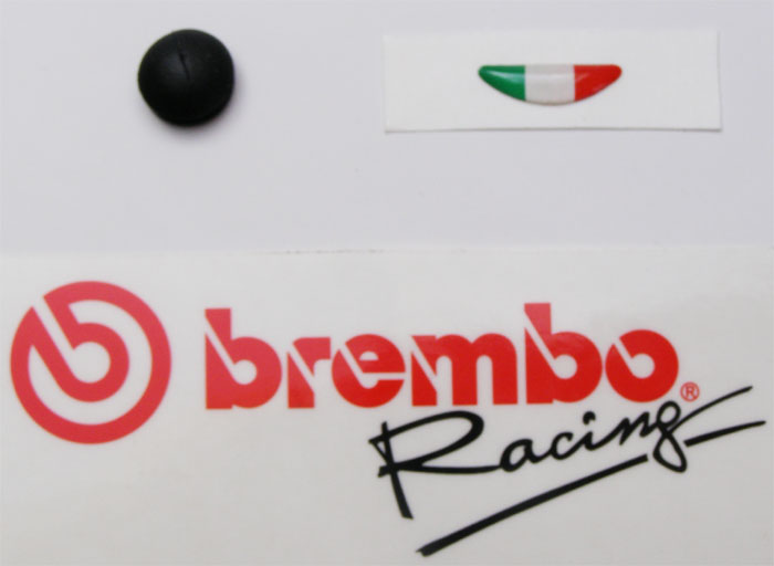 Brembo sticker Italy and rubber cap 19/16/15 RCS