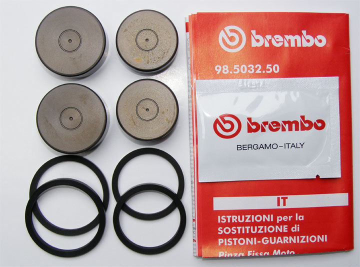 Brembo Seal and Piston kit for Axial-Calipers P4 30/34CNC