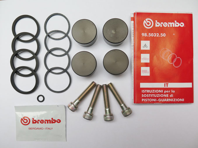 Brembo Seal Kit with piston  for Brembo calipers P4 32D