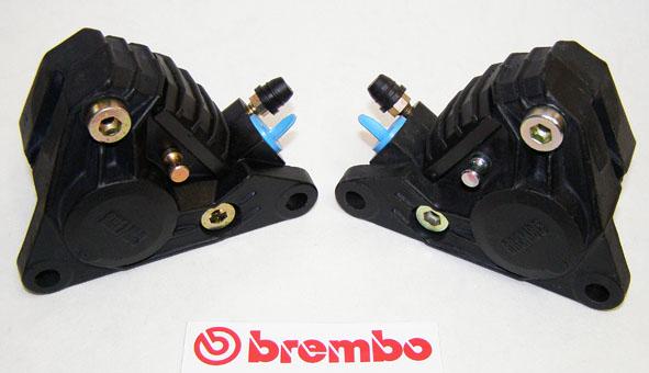 brembo bremszangensatz p2f04n schwarz links u rechts. Black Bedroom Furniture Sets. Home Design Ideas