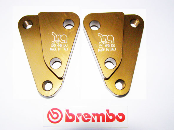 Set Adapter for Brembo calipers P4 with 65 mm to P4 with 40 mm