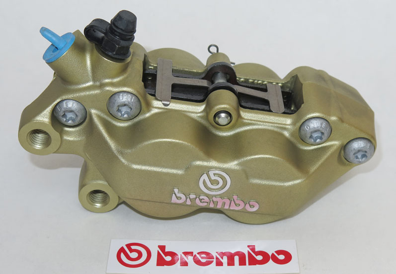 Brembo Caliper P4 30/34C, gold, left side