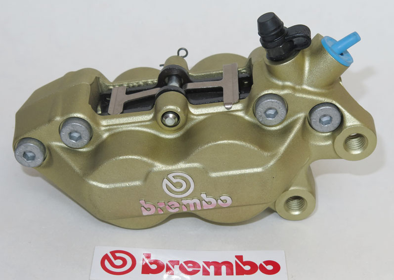 Brembo Caliper P4 30/34C, gold, right side