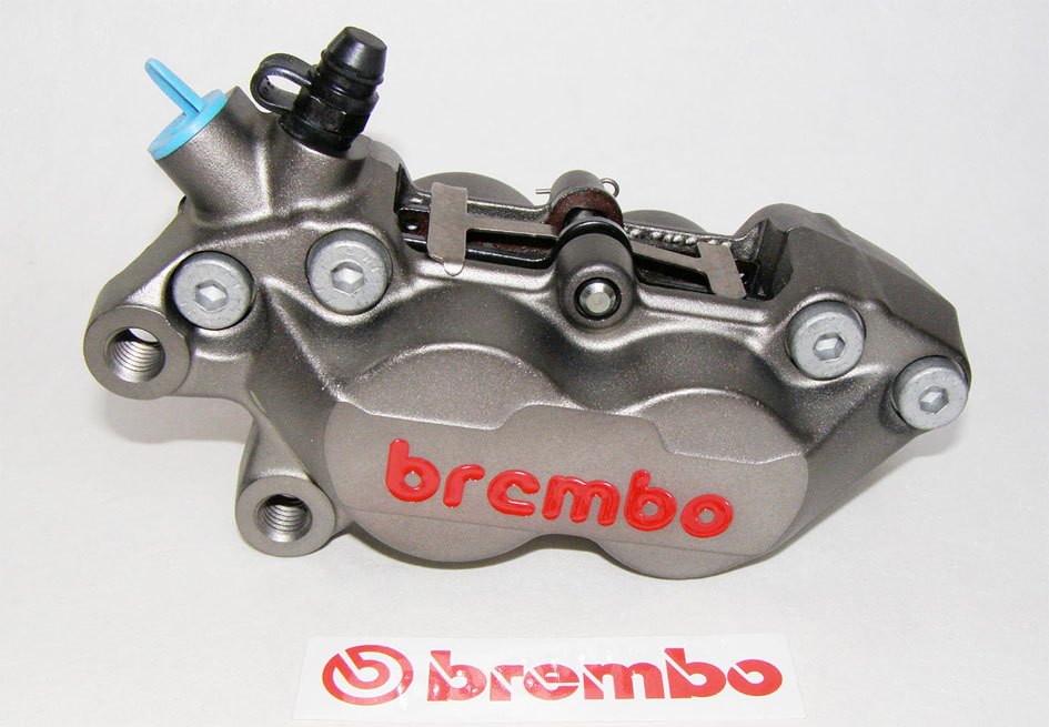 Brembo Caliper P4 30/34, Titanium Finish, left side
