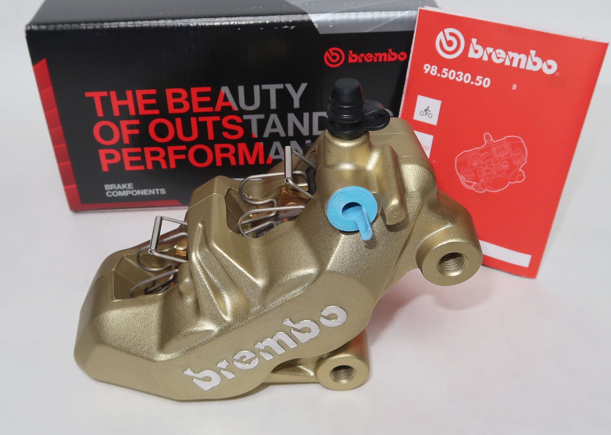 Brembo Caliper P4 34/34, gold, right side