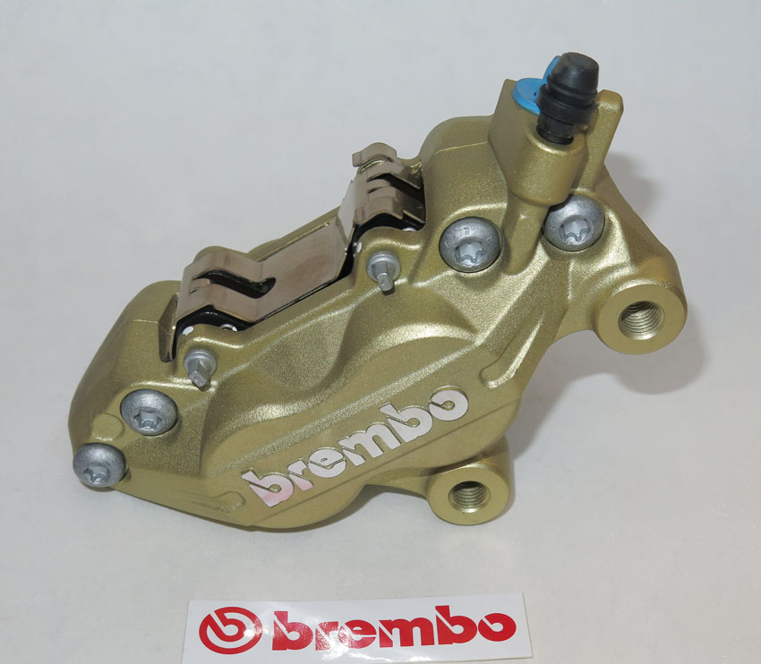 Brembo Caliper P4 30/34F, gold, right side