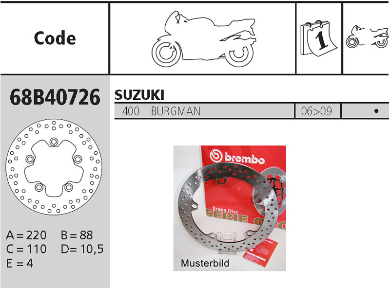 Brembo Brake Disc Performance Serie Oro 78B40826, front