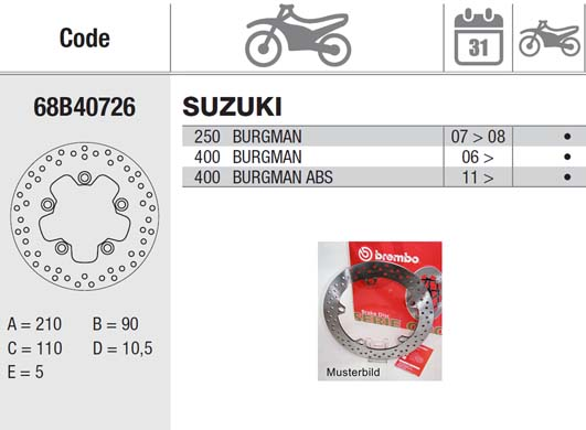 Brembo Brake Disc Performance Serie Oro 68B40726, rear