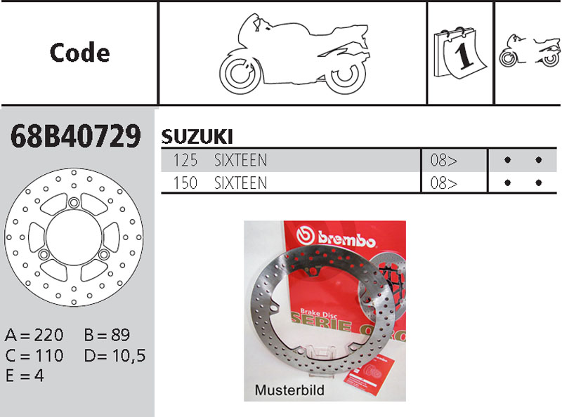Brembo Brake Disc Performance Serie Oro 68B40729