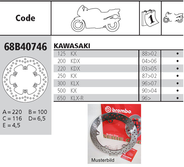 Brembo Brake Disc Performance Serie Oro 68B40746, rear