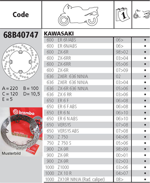 Brembo Brake Disc Performance Serie Oro 68B40747, rear