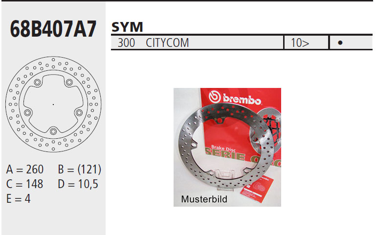 Brembo Brake Disc Performance Serie Oro 68B407A7, front