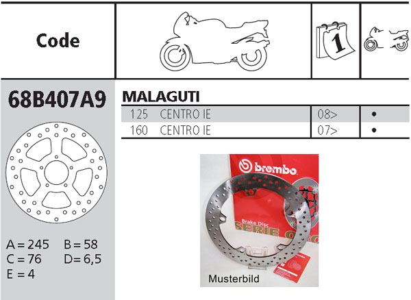 Brembo Brake Disc Performance Serie Oro 68B407A9, front