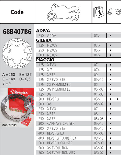 Brembo Brake Disc Performance Serie Oro 68B407B6, front