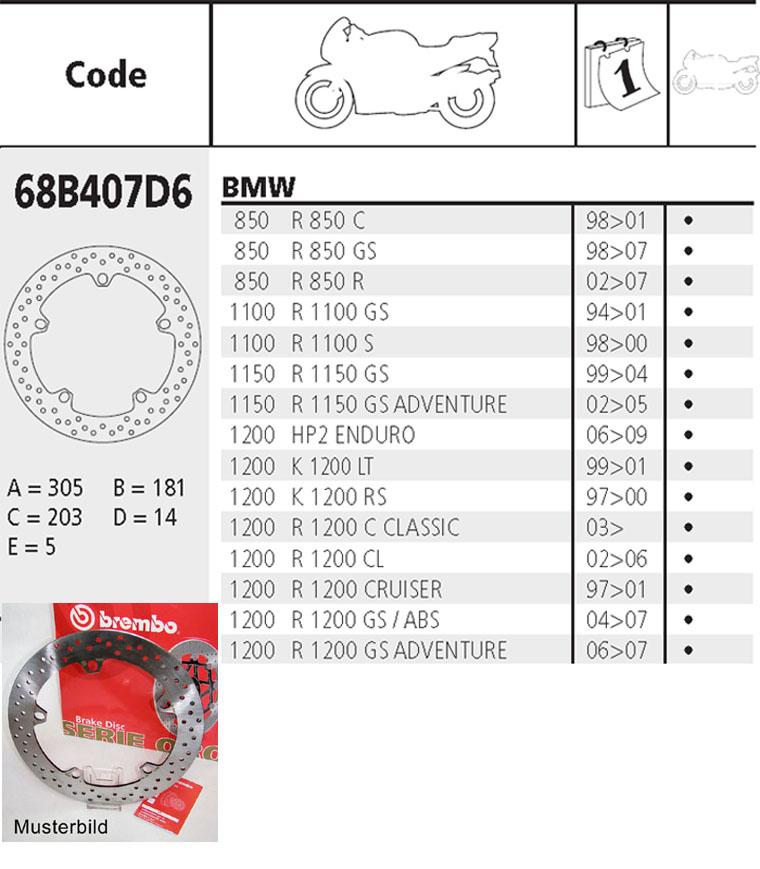 Bremsbeläge BMW K 1200 LT  K 1200 RS Brembo Bremsscheiben Bremse vorne