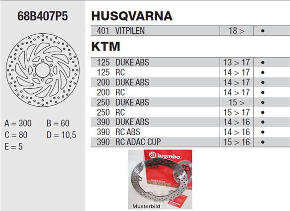 Brembo Brake Disc Performance Serie Oro 68B407P5, front