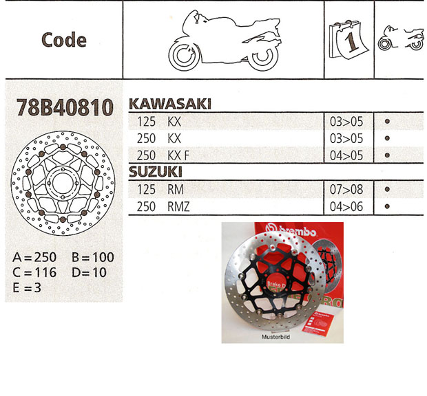 Brembo Brake Disc Performance Serie Oro 78B40810, front