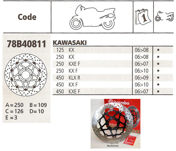 Brembo Brake Disc Performance Serie Oro 78B40811, front