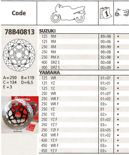 Brembo Brake Disc Performance Serie Oro 78B40813, front
