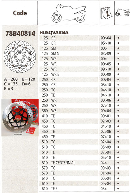 Brembo Brake Disc Performance Serie Oro 78B40814, front
