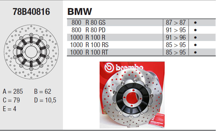 Brembo Brake Disc Performance Serie Oro 78B40816, front
