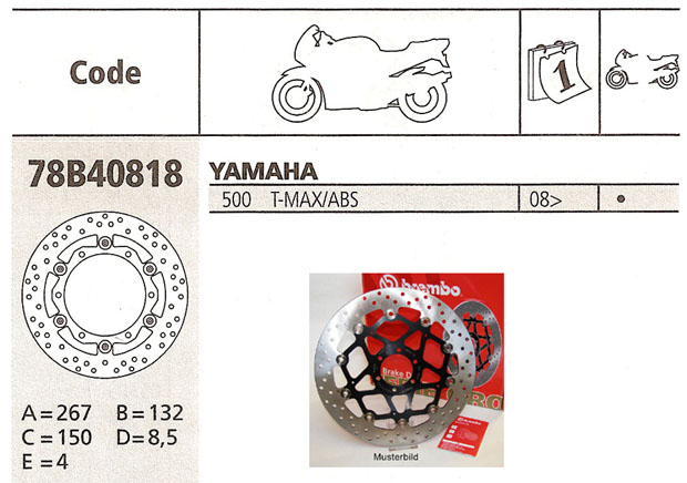 Brembo Brake Disc Performance Serie Oro 78B40818, front