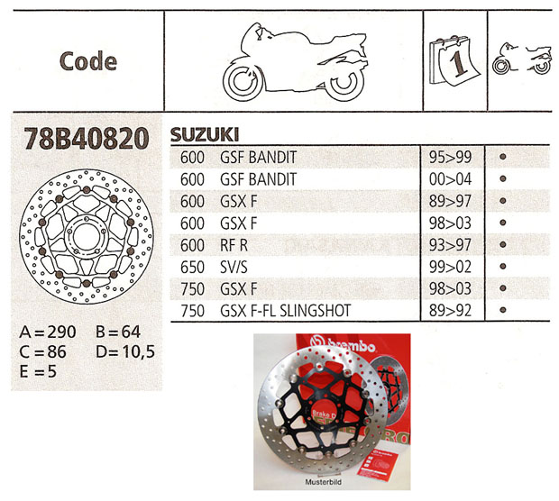 Brembo Brake Disc Performance Serie Oro 78B40820, front