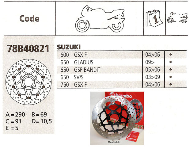 Brembo Brake Disc Performance Serie Oro 78B40821, front