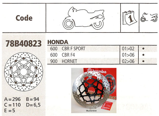 Brembo Brake Disc Performance Serie Oro 78B40823, front
