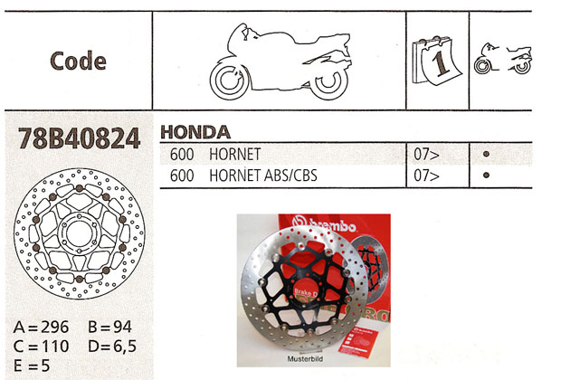 Brembo Brake Disc Performance Serie Oro 78B40824, front